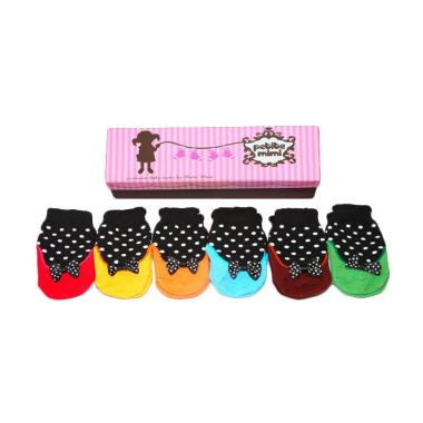 Petite Mimi Socks Polkadot Set Kaos Kaki Bayi [6 Packs]
