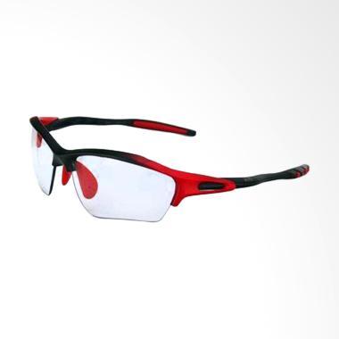 Eyewear Photochromic Lens Sports Sunglasses for Unisex - Red Black