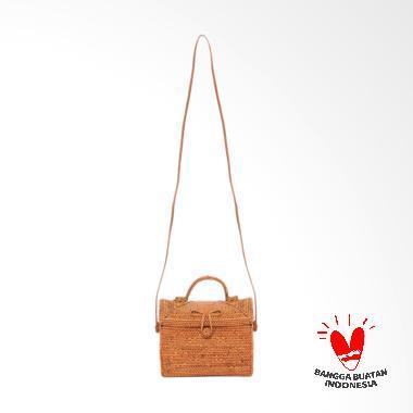 Benangsari Ariyuni Bag Tas Anyam Wanita - Coklat