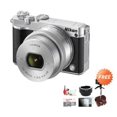 Nikon J5 Kit 10-30mm VR Kamera Mirrorless - Silver + Free Aksessories