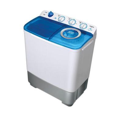 Sanken TW-882 Mesin Cuci - Biru [2 Tabung/7 Kg]