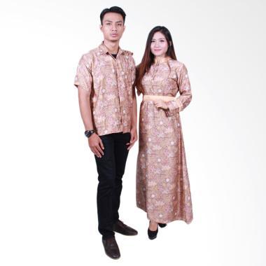 Batik Putri Ayu Solo SRG502 Sarimbit Gamis Baju Batik - Cream