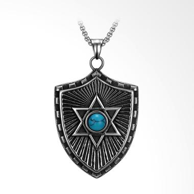 SOXY New Stylish Turquoise Shield T ... eometric Kalung [GMYN184]