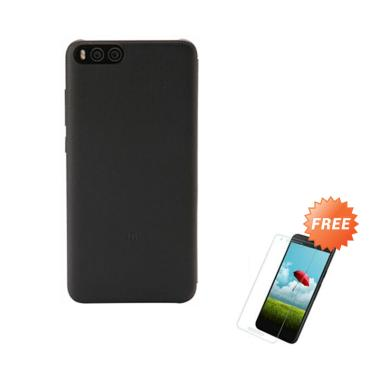 OEM Slim Soft Case Casing for Xiaomi Mi Note 3 2017 - Hitam Solid + Free