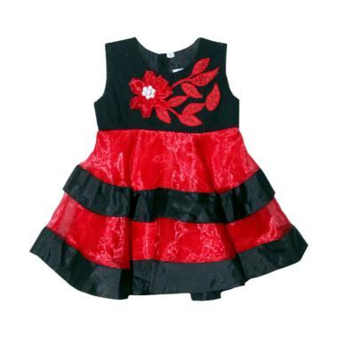 TWO MIX PESTA 2409 Bordir Bunga Dress Anak
