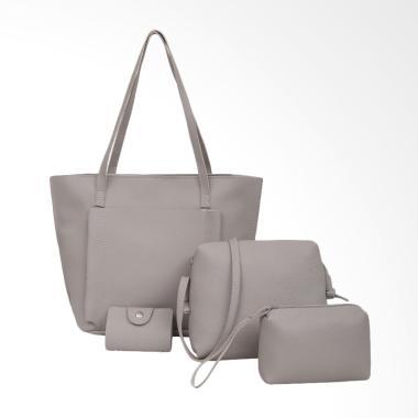 Lansdeal Four Set Tas Wanita - Grey ... lder Bag/Tote Bag/Wallet]
