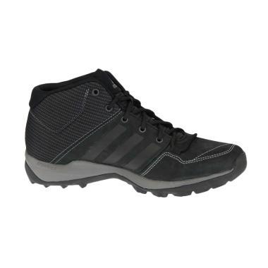 adidas Daroga Plus Mid Leather Sepatu Pria - Black [B27276]