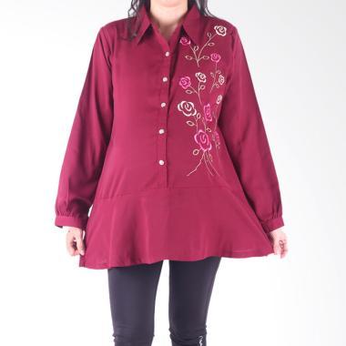 HMILL 1566 Baju Blus Hamil - Merah