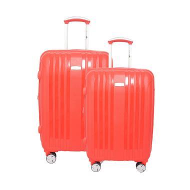 Navy Club 3866 Hardcase Fiber PP Set Koper - Merah [20 dan 24 Inch]