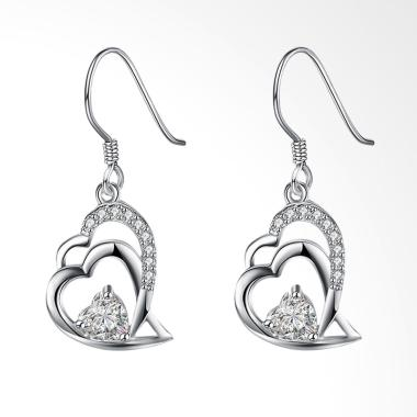 SOXY LKNSPCE790 New Exquisite Fashion Heart Shaped Diamond Earrings
