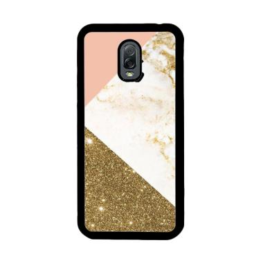 Flazzstore Pink And Gold Marble App ... or Samsung Galaxy J7 Plus