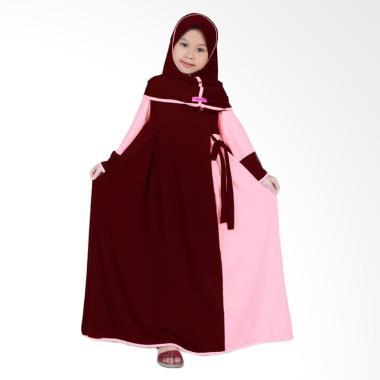 BajuYuli Baju Muslim Gamis Anak Perempuan - Marun Peach