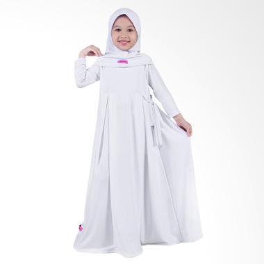 BajuYuli Jersey Gamis Baju Muslim Anak Perempuan - Putih