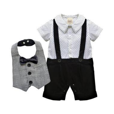 VERINA BABY Romper Model Jas Plus Vest Slaber Set Pakaian Anak