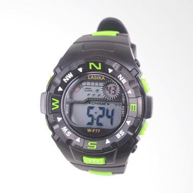 Lasika Sport Digital Jam Tangan Unisex - Black Green [W-F 77]