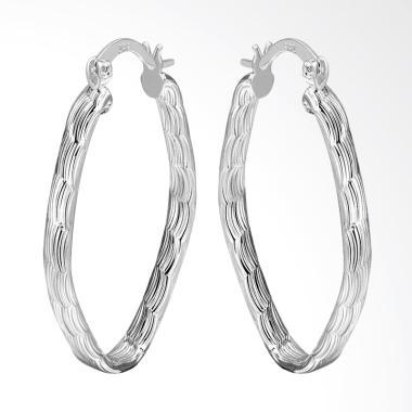 SOXY LKNSPCE343 New Exquisite Fashion Oval Earrings - Silver