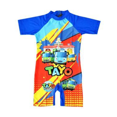 Nice Baby Motif Tayo Baju Renang Anak Laki-laki - Biru
