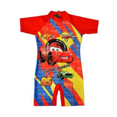 Nice Baby Motif Mc.Queen Baju Renang Anak Laki Laki - Merah