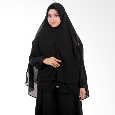 Atteena Hijab Khimar Nashmia Hijab Instant - Black
