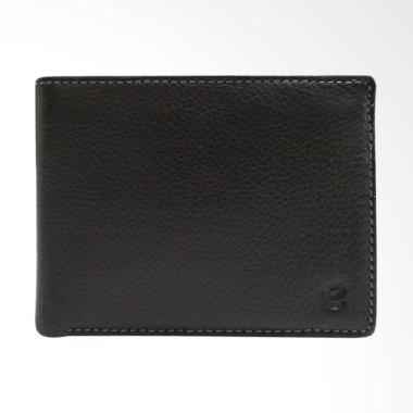 Eagle Genuine Leather Dompet Kulit Pria - Hitam [7402]