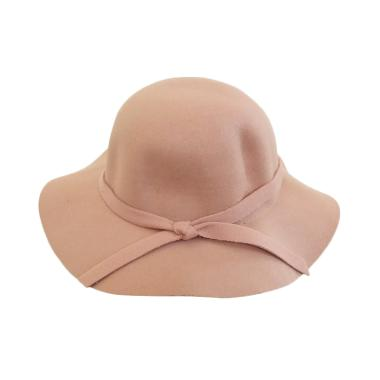 GBS Fashion Wol Fedora Girl Hat Topi Anak - Cream