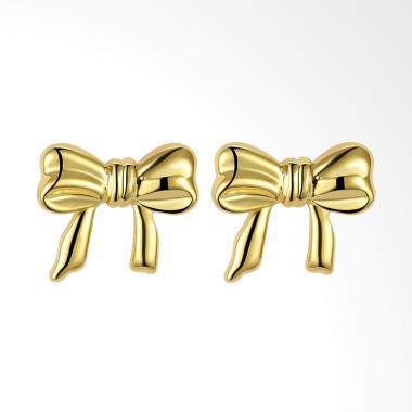 SOXY AKE168 K Gold Fashion Bowknot Earrings Wanita