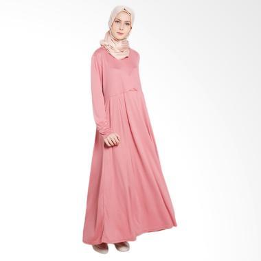 Elzatta Afsa Gamis Muslim - Peach