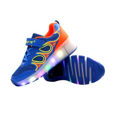 WHEELY'S Tipe 006 Unisex Sepatu Roda Tunggal dengan LED - Blue