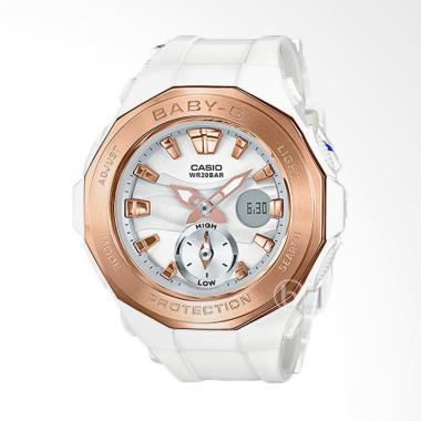 CASIO Baby-G BGA-220G-7A Beach Glam ...  Wanita - White Rose Gold