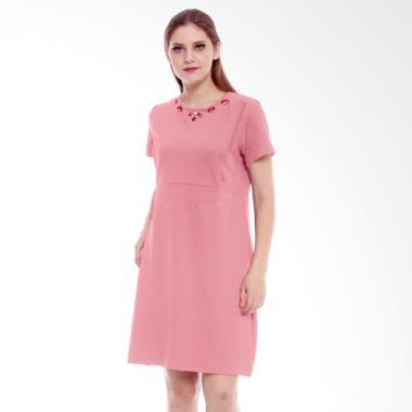 Baju Island Claire Nursingwear Dress Menyusui - Pink