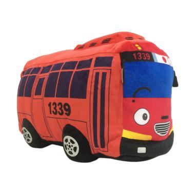 Toylogy Tayo Bus Stuffed Rogi Lani Gani Plush Doll Boneka - Merah [40 cm]