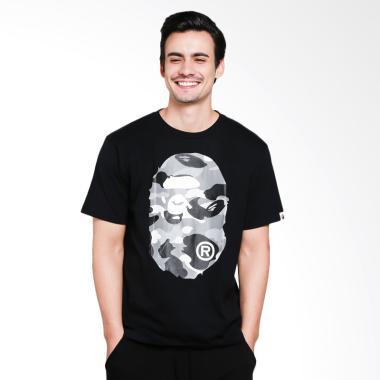 A Bathing Ape 1st Camo Grey Big Ape Head Tee Men Tshirt - Black