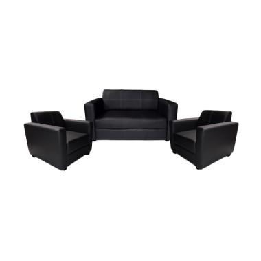 FCENTER 211 Dahlia Set Sofa - Hitam [Pulau Jawa*)