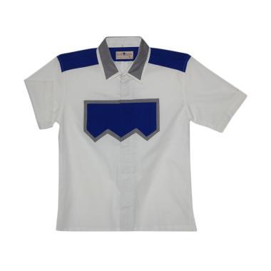 Birama 9254 Kemeja Polos Anak Laki-Laki - Putih Biru