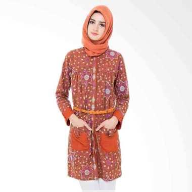 Arya Putri Batik Adista ATM-001-O Baju Batik Muslim Wanita - Orange