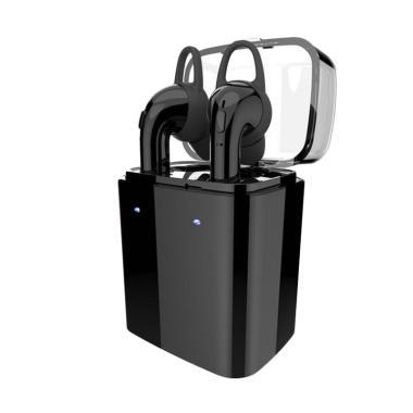 Dacom GF7 TWS Charger Storage Box Stereo Bluetooth Headset - Hitam