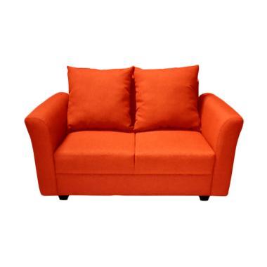FCENTER Aster 2 Seater Sofa - Red [Pulau Jawa*)