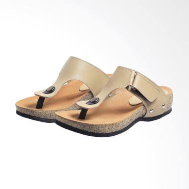 Syaqinah 199 Sandal Flat Wanita - Cream
