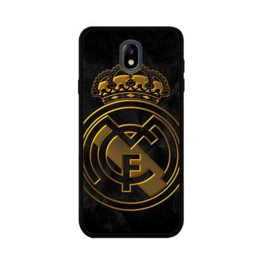 Flazzstore Real Madrid Logo Gold O1261 Custom Hardcase Casing For Samsung Galaxy J7 Pro 2017