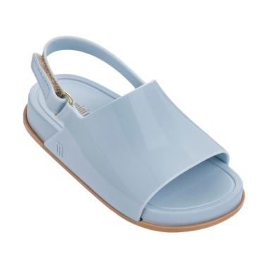 Mini Melissa Beach Slide Sandal Bb Sepatu Anak Perempuan - Blue Beige