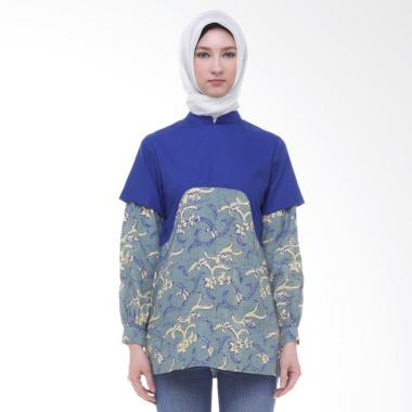 Arya Putri Batik ATM-008-BGy Harita Baju Batik Muslim Atasan