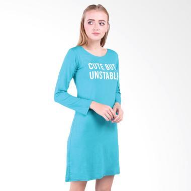 LEMONE 511SS601337 Baju Dress Kaos Wanita Premium