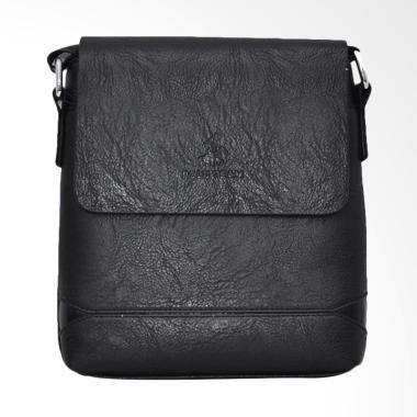 Polo Team PVC Leather Sling Bag Tas Pria - Black [Small/ A172-1]