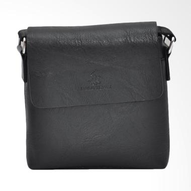 Polo Team Sling Bag Pria - Black [A175-2/ Size Medium]