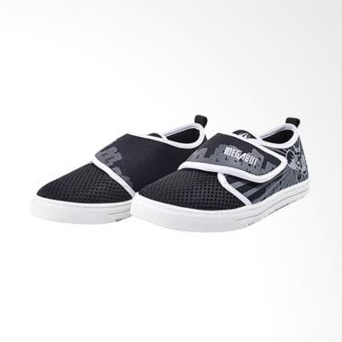 Ardiles Kids Whip Shoot Sneakers Shoes Anak Laki-laki - Hitam Putih