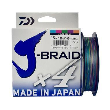 Senar PE Daiwa J Braid X4 150M Ukuran 15 Lb