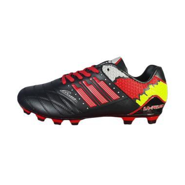 Sevenray Lapulga Jr Sepatu Sepak Bola Anak - Hitam Merah