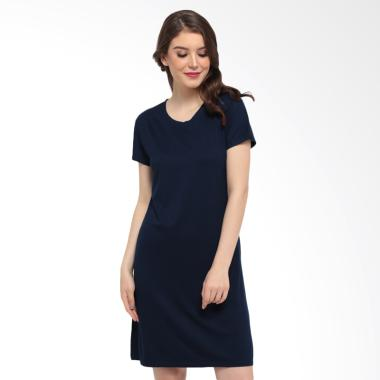 LEMONE KAE100096 Premium Mini Dress Atasan Wanita - Navy
