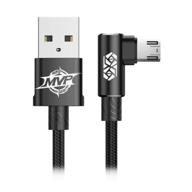 Baseus MVP ELBOW Micro Data Cable for Android - Black [2A/1m]