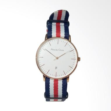 Alexandre Christie Dial Canvas Stra ... Rosegold White [AC8420MD]